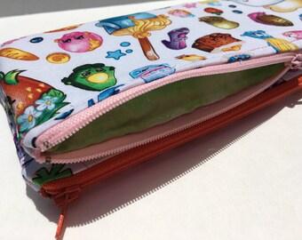 Girls Shopkins Zipper Pouch Pencil Pouch Pencil Case Kids School Supplies