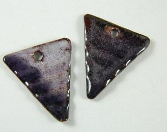 Purple Enameled Earring Components