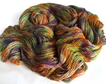 Freya. Bfl  Silk Lace Yarn. Winter Roots