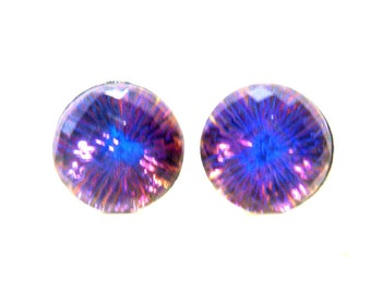 Rare Color Changing Crystal Ball Earrings