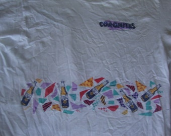 Vintage 80's CORONITAS 7 0z Beer Bottle 50/50 party tourist vacation T Shirt XL