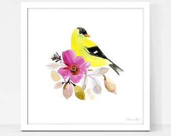 Art Print Yellow Finch