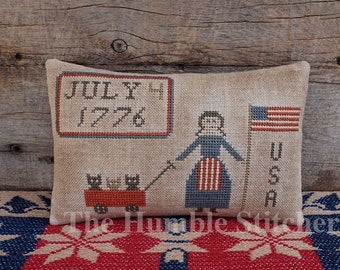 Happy Birthday USA...Primitive Cross Stitch Pattern By The Humble Stitcher