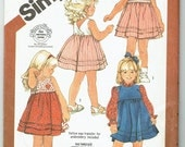 Toodlers Back-Wrap Sundress or Jumper - Toddler Size 2-3-4 - Uncut Factory Folded Pattern - Yellow Wax Transfer for Embroidery