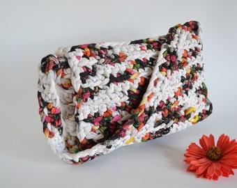 Crochet bag shoulder bag, handbag for woman summer cotton bag, women accessories