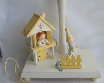 Wooden Nursery Lamp with Nightlight