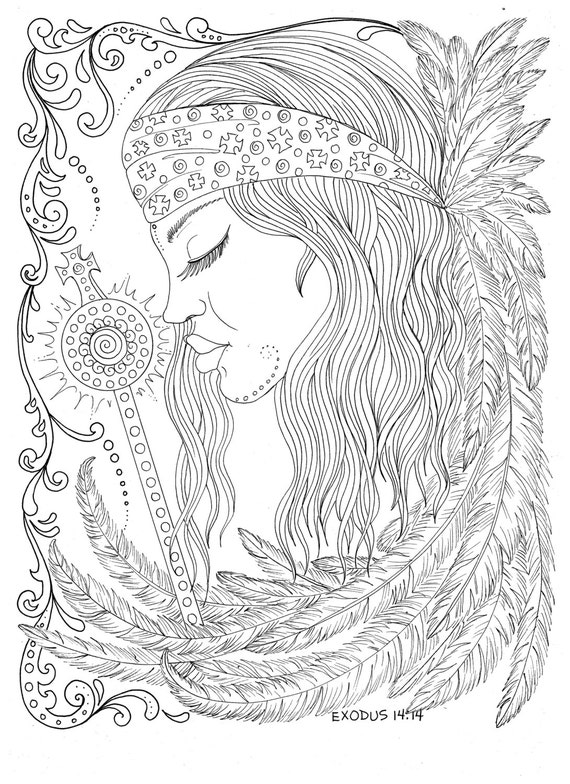 Angles coloring pages ~ New Coloring Book Guardian Angels Christian Scripture Healing