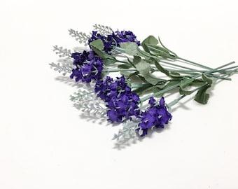 Artificial Lacender Stems - 7 Pcs - Artificial Flowers, Silk Flowers, Flower Crown
