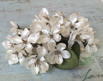 Artificial Apple Blossoms - Wedding Flowers, Flower Crown, Halo, Silk Flowers