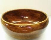 Small Glossy Glazed Ceramic Bowl Earthenware