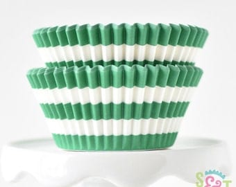 Rugby Green BakeBright GREASEPROOF Baking Cups Cupcake Liners | ~30 count