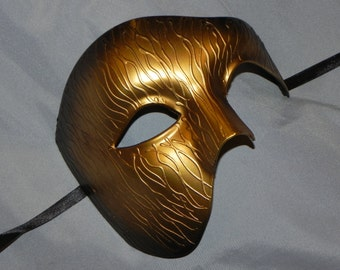 Gold and Black Ombre Phantom of the Opera Mask
