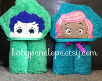Bubble Guppies Hooded Towel