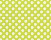Michael Miller Fabric - 1 Yard Lime Ta Dot