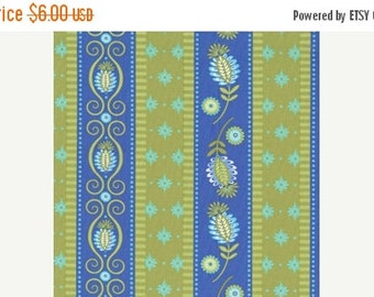 Summer Clearance Sale - Michael Miller Fabric - 1 Yard Gypsy Road in Periwinkle