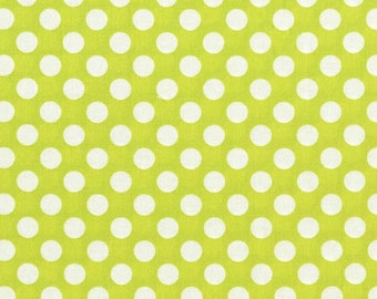 Michael Miller Fabric - 1 Yard Lime Ta Dot