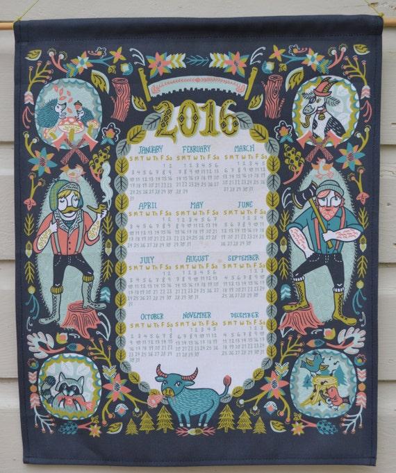 2016 Lumberjack and Friends Tea Towel Calendar ** Last Call***