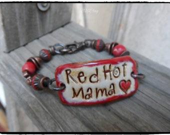 Red Hot Mama  Cuff Bracelet