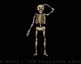 Rare Antique Animated Skeleton Slide