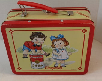 Vintage Campbell's Soup Metal Lunch Box collectible