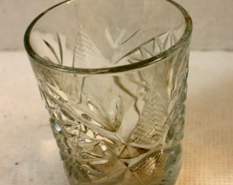 cut glass heavy glass tumbler vintage drinkware
