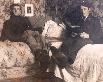 Antique Photo - Yale College Dorm Room - Men - Snapshot - Vernacular Photo