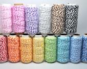 BUY 2 GET 1 FREE Assorted Colors - Baker's Twine - Cotton Twine - 20 yards - Favor Packaging - Doodlebug