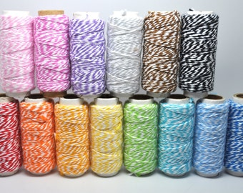 BUY 2 GET 1 FREE Assorted Colors - Baker's Twine - Cotton Twine - 20 yards - Favor Packaging - Doodlebug