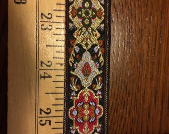 Black Red Gold Olive White Renaissance SCA Elizabethan Celtic Faire Bodice Jacquard Ribbon Trim Per Yard SALE Cosplay Costume Sewing Craft