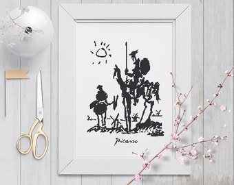 Picasso Quixote Cross Stitch Pattern