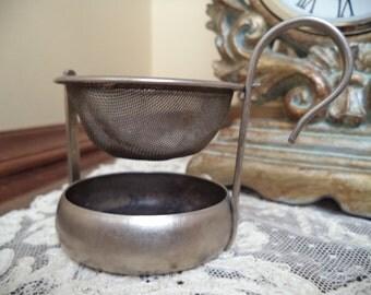 Pewter Tea Strainer