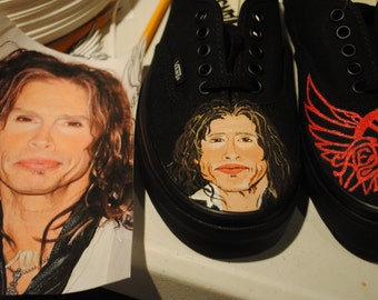 New Design Steven Tyler and Areosmith Design  Vans womens size 9.5 === sorry SOLD