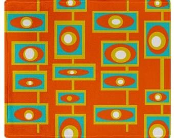 Cozy Throws, Orange Blanket ,Modern Blanket, Modern Fleece Throw, Throw Blanket, Fleece Blanket,Mid Century Modern  Blanket