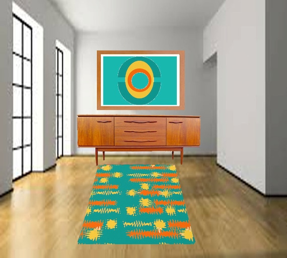 Ideas For Turquoise Rugs Living Room: Turquoise Rug Area Rug Designer Rug Living Room Rug