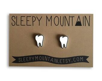Teeth Earrings - Molars - Tooth Stud Earrings - Dental