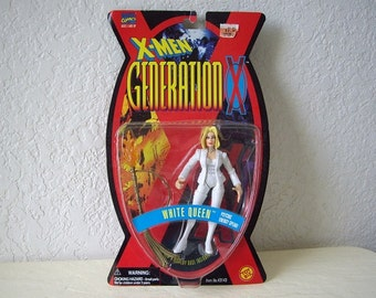 X-Men Generation Action Figure, WHITE QUEEN with her Psychic Energy Spear, complete in package, 1996.