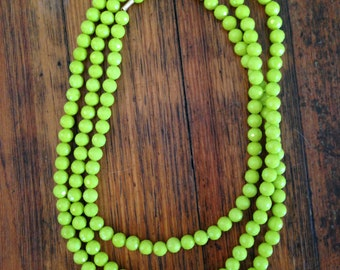 Lime Green Wrap Necklace