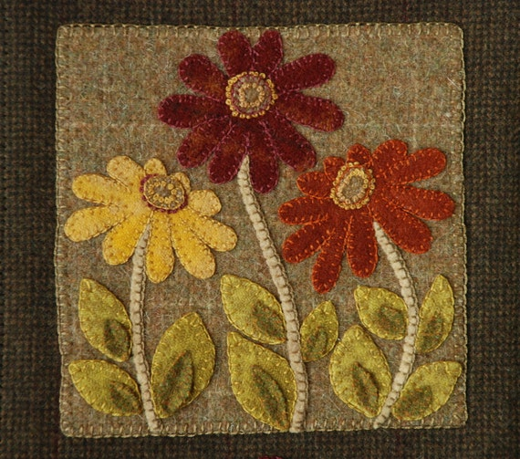 Wool Applique Pattern Amp Or Kit Quot Prairie Wildflowers Quot Wall