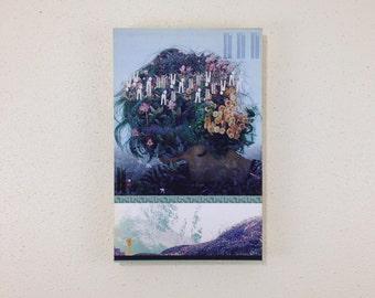blue hair orange obama // 11 x 17 in. ORIGINAL art work