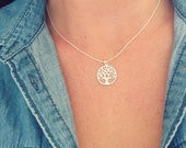 Tree of Life Necklace Large, Sterling Silver, Wedding Gift, Special gift, Best Friend necklace, Girlfriend necklace, Family necklace