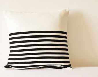Black suede pillow Etsy