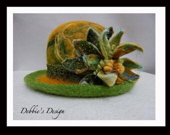 Women's Handmade Cloche Hat-94 Women's Felted Cloche Hat, Accessories, Hat, Handmade, Fall-Winter, cloche felt hat, Downton abbey