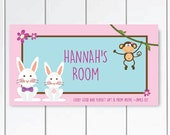 DOOR SIGN Rabbit Bedroom Wall Art - Every good and perfect gift is from above