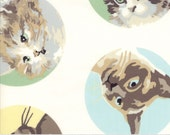 Meow or Never - Furball in Milk by Erin Michael for Moda Fabrics