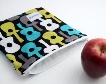 Reusable Sandwich Bag Zipper, Reusable Bag, Zookaboo, Handmade, Ready to Ship
