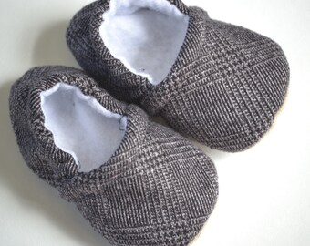 baby boy shoes in black and grey