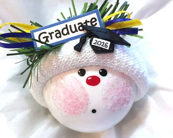 Graduation Gift Ornaments Cap GRADUATION Sign Hand Painted Handmade Personalized Themed by Townsend Custom Gifts - BackRoom