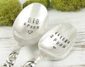 Big Spoon. Little Spoon. Stamped Spoons for Anniversary, Birthday, Wedding or Just Because. Personalized and Customized. 575SP