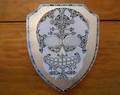 Silver Shield Sugar Skull...
