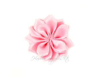 Light Pink Dainty Star Flowers 1-1/2 inch - Light Pink Fabric Flowers, Light pink Silk Flower, Light Pink Hair Flower, Pink Flowers for Hair